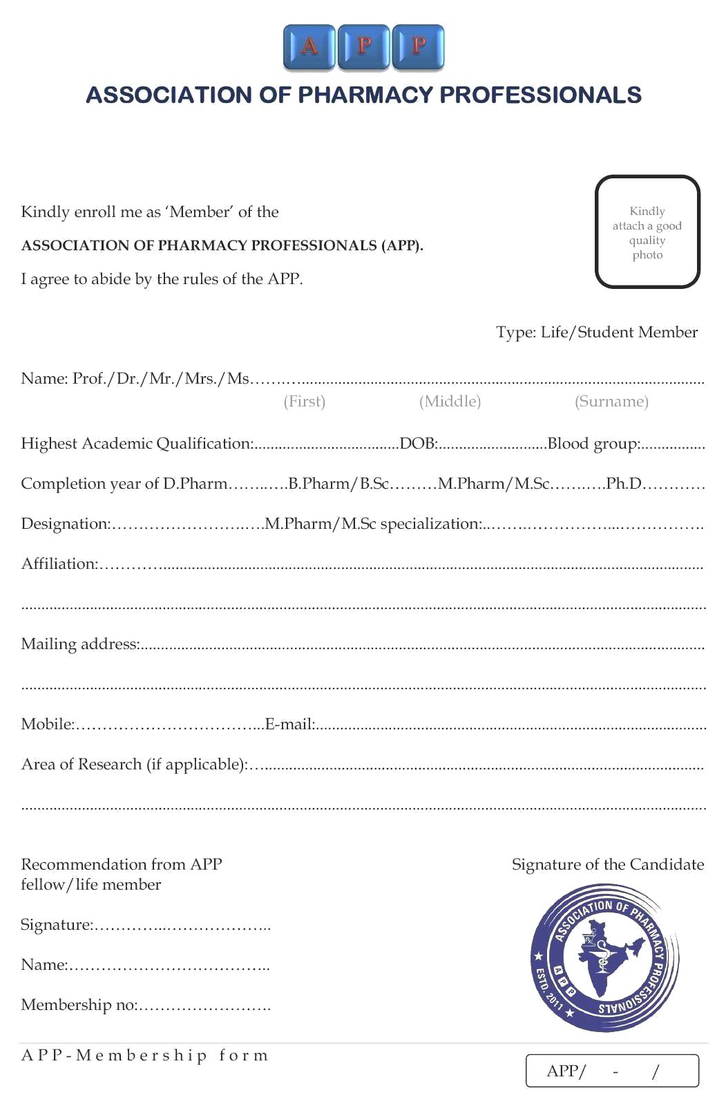 Pta membership form template membership form thecheapjerseys Gallery